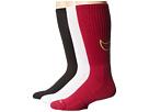 Nike Dri-FIT Cotton Swoosh Crew 3-Pair Pack (White/Fireberry/Dark Fireberry/Volt/Fireberry/Volt)