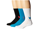 Nike Dri-FIT Cotton Swoosh Crew 3-Pair Pack (White/Blue Lagoon/Blue Lagoon/Bright Crimson/Black)