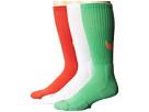 Nike Dri-FIT Cotton Swoosh Crew 3-Pair Pack - White/Light Green Spark/Gamma Orange