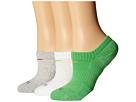 Nike Dri-FIT Cushion No Show 3 Pack (Light Green Spark/Flash Lime/Grey Heather/Flash Lime/White/Flash)