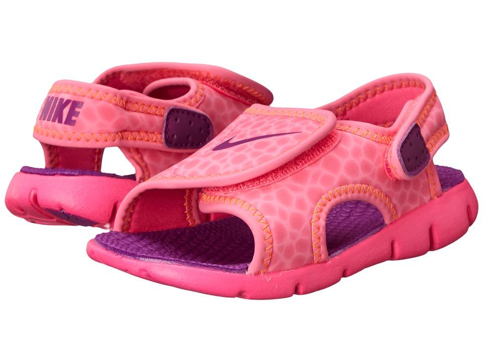 Nike Kids - Sunray Adjust 4 (Infant/Toddler) (Pink Pow/Total Orange/Bold Berry) Girls Shoes
