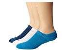 Nike Dri-FIT Cushion No Show 3 Pack (Light Blue Lacquer/Bright Crimson/White/Bright Crimson)