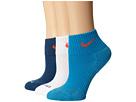 Nike Dri-FIT Cushion Quarter 3 Pack (Light Blue Lacquer/Bright Crimson/White/Bright Crimson)