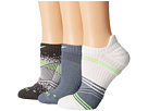 Nike Dri-Fit Graphic No-Show 3-Pair Pack (White/Flash Lime/Blue Graphite/Flash Lime/Anthracite/Flash Lime)