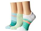Nike Dri-Fit Graphic No-Show 3-Pair Pack (White/Bright Crimson/Vapor Green/White/Ice Blue/Bright Crimson)