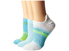 Nike Dri-Fit Graphic No-Show 3-Pair Pack (White/Flash Lime/Ice Blue/White/Clearwater/Ice Blue)