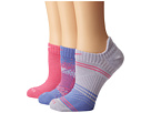 Nike Dri-Fit Graphic No-Show 3-Pair Pack (Polar/Pinksicle/Pinksicle/White/White/Pinksicle)