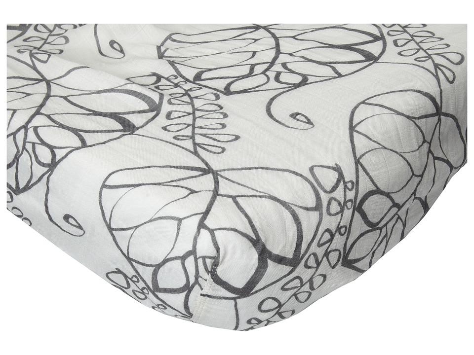 aden anais Bamboo Crib Sheet Moonlight Leafy Sheets Bedding