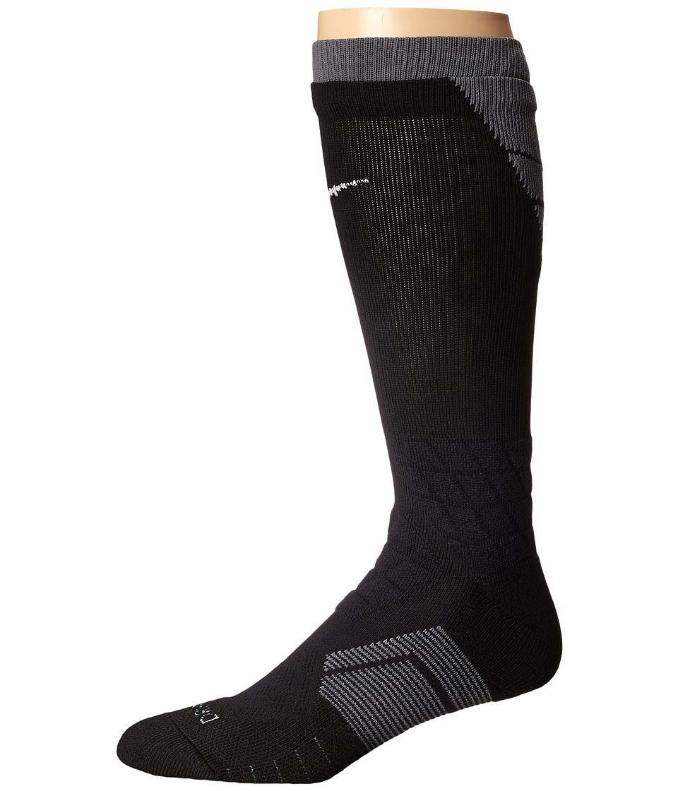 Nike 2.0 Elite Vapor Football Black/Flint Grey/White Crew Cut Socks Shoes