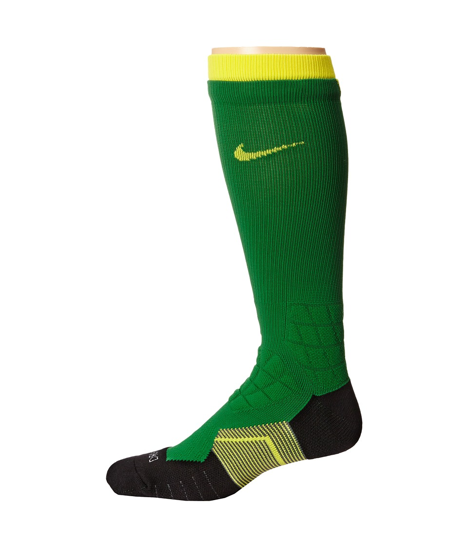 Nike 2.0 Elite Vapor Football Apple Green/Yellow/Yellow Crew Cut Socks Shoes