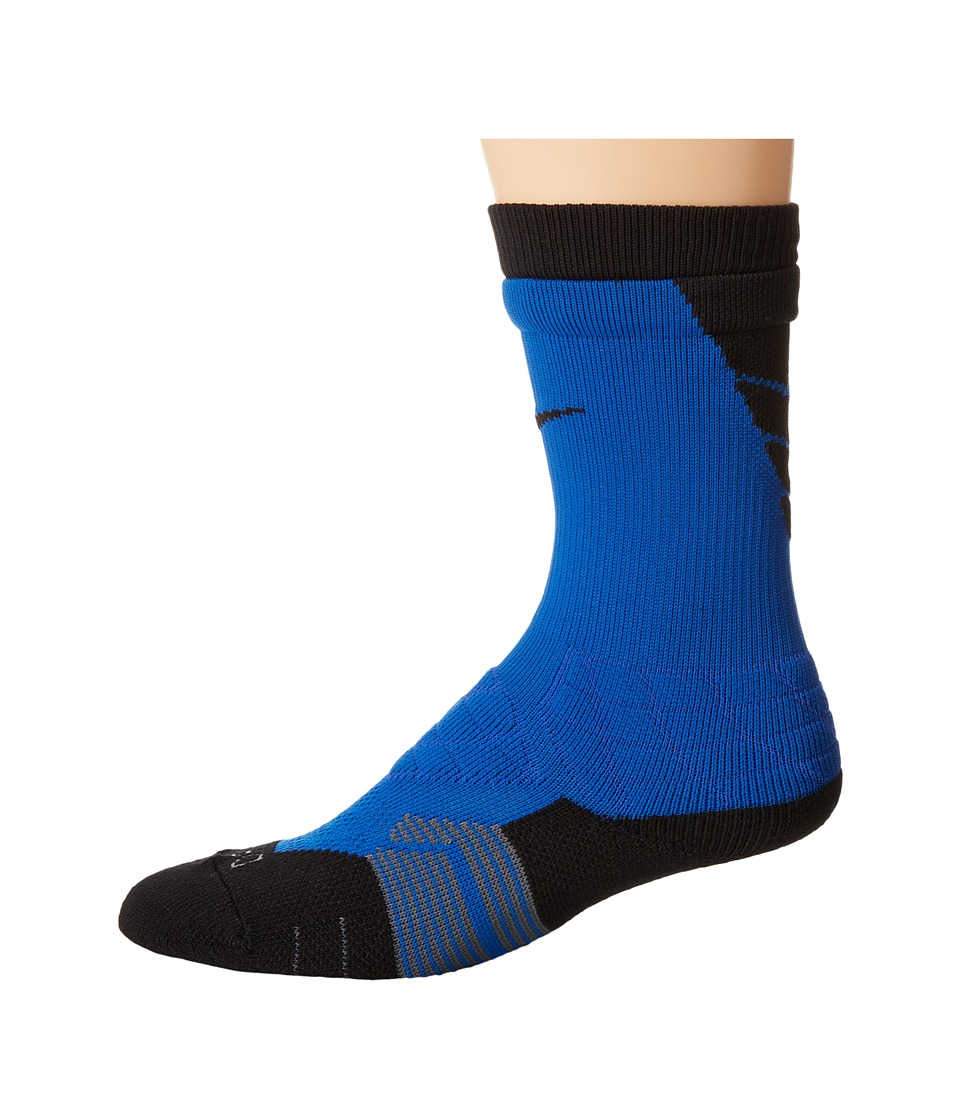 Nike 2.0 Elite Vapor Football Game Royal/Black/Black Crew Cut Socks Shoes