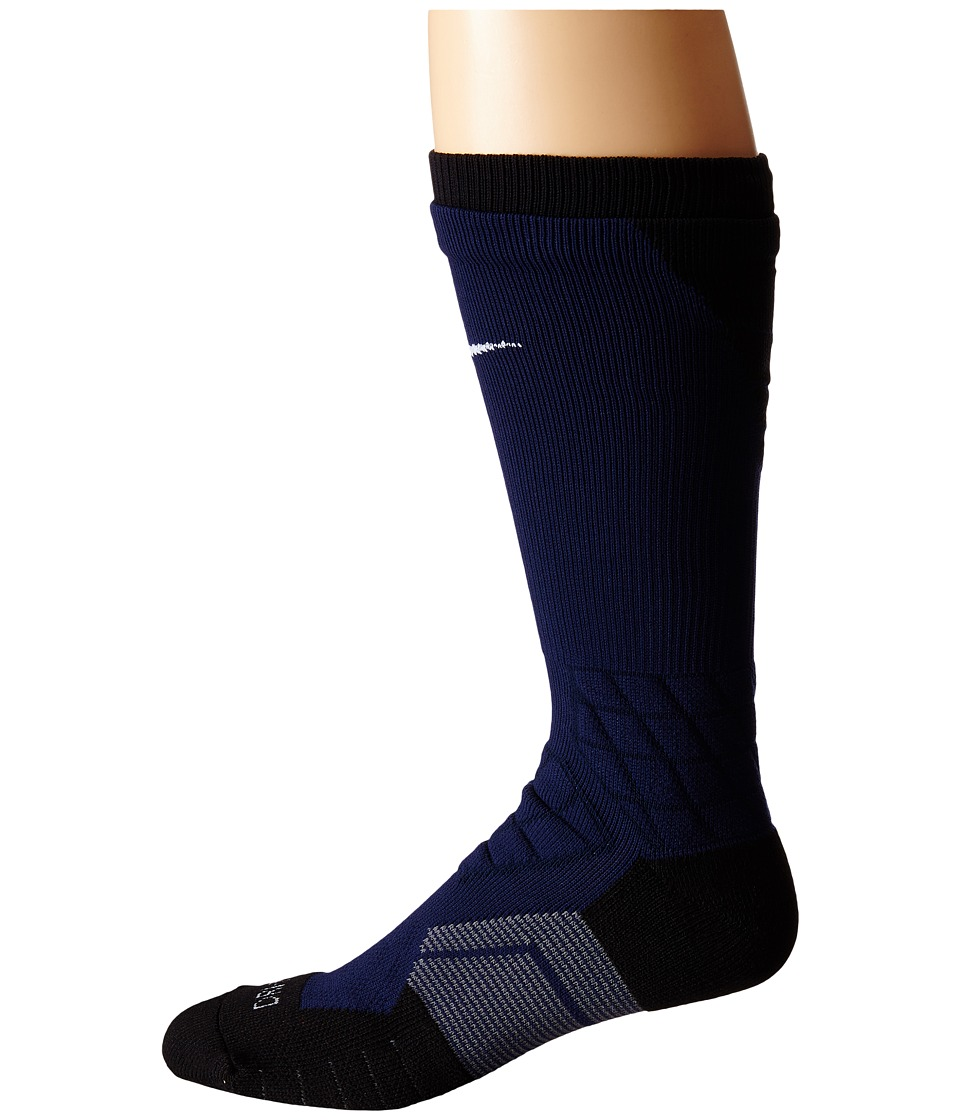 Nike 2.0 Elite Vapor Football College Navy/Black/White Crew Cut Socks Shoes