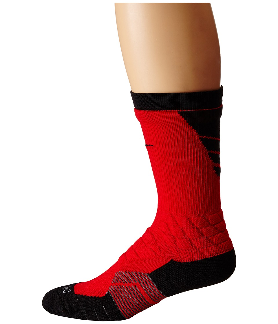 Nike 2.0 Elite Vapor Football University Red/Black/Black Crew Cut Socks Shoes