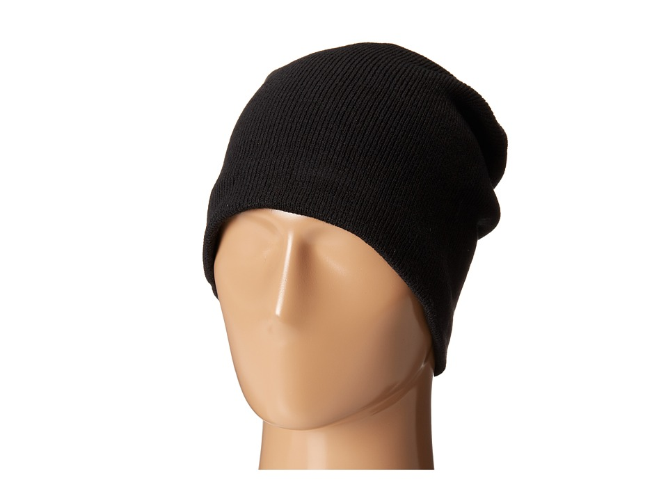 Plush Fleece Lined Barca Hat Black Cold Weather Hats