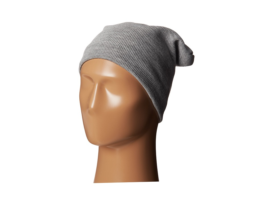 Plush Fleece Lined Barca Hat Heather Grey Cold Weather Hats