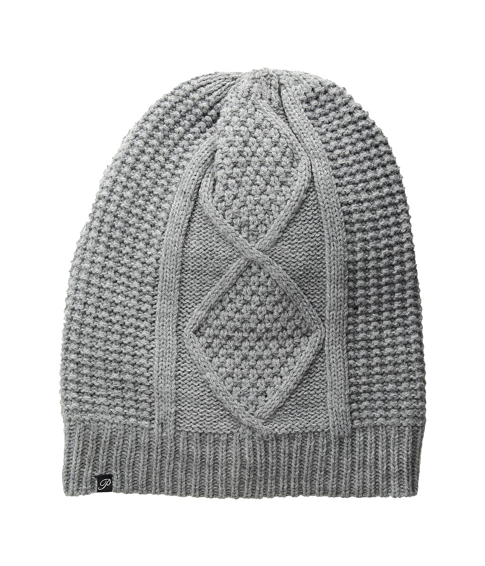 Plush Fleece Lined Cable Knit Beanie Heather Grey Beanies