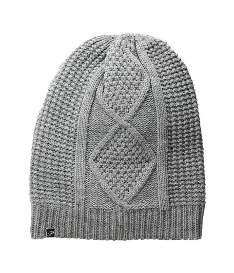 Plush Fleece-Lined Cable Knit Beanie - Heather Grey