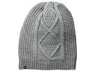 Plush Fleece-Lined Cable Knit Beanie (Heather Grey)