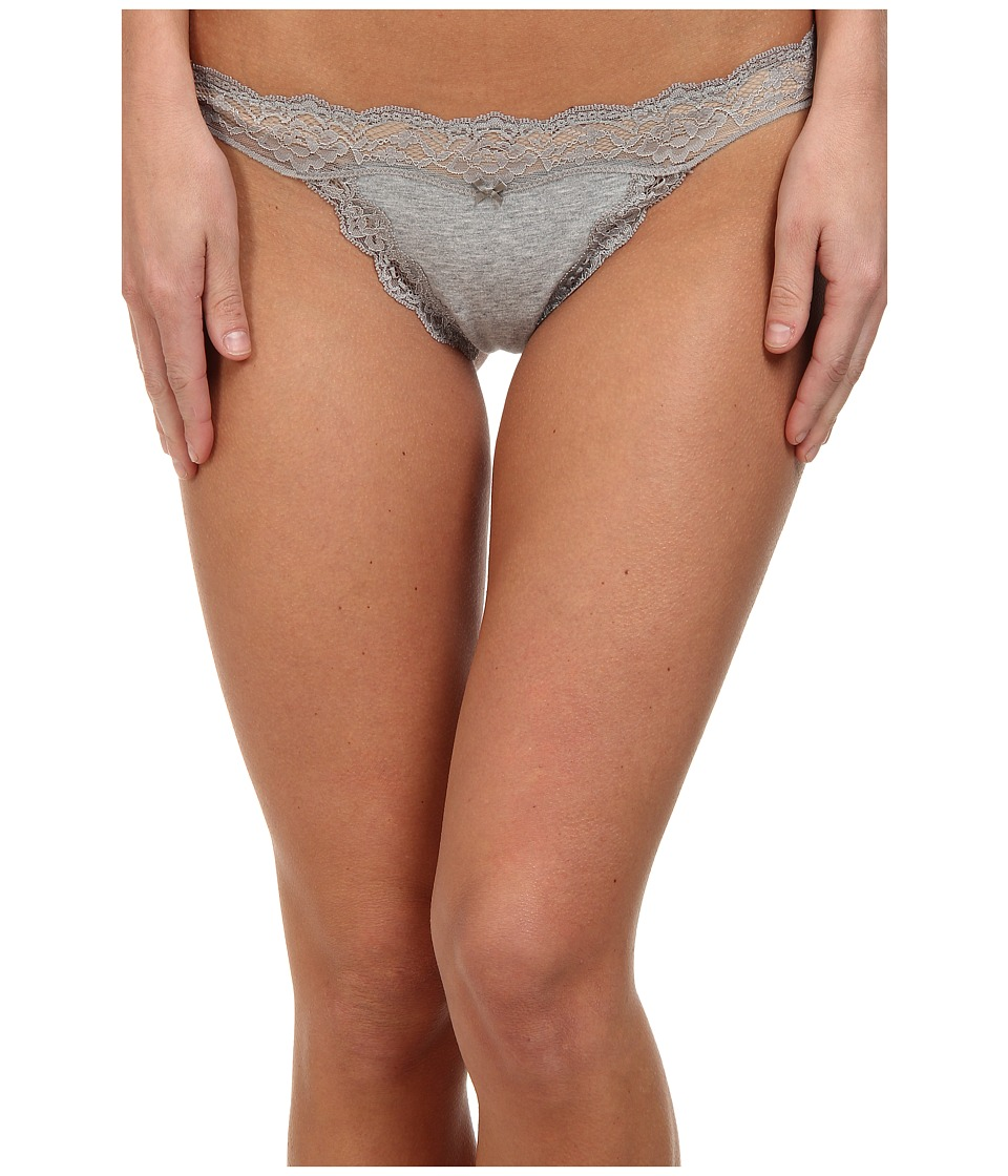 DKNY Intimates Downtown Cotton G String Heather Gray/Gray Sky Womens Underwear