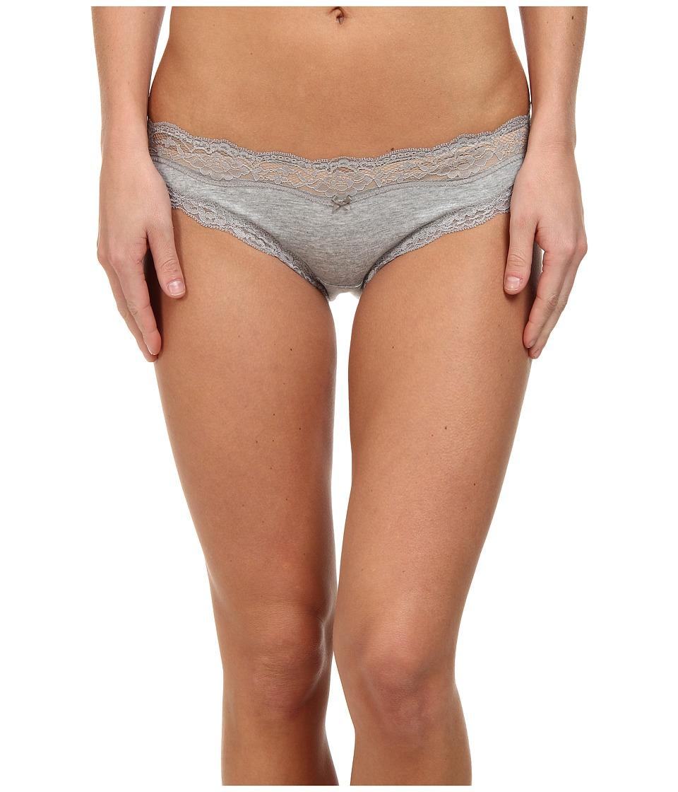 DKNY Intimates Downtown Cotton Bikini Heather Gray/Gray Sky Womens Underwear