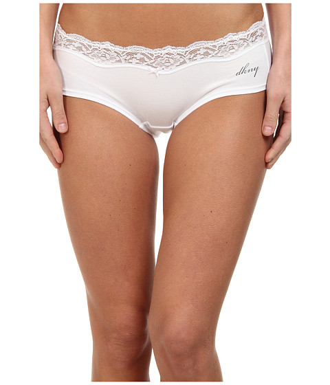 DKNY Intimates Downtown Cotton Hipster - White