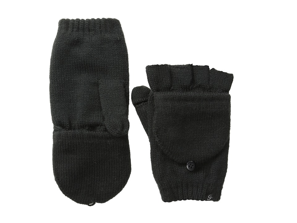 Plush Fleece-Lined Texting Mittens (Black) Dress Gloves