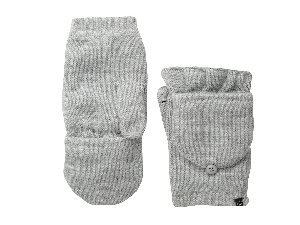 Plush Fleece-Lined Texting Mittens (Heather Grey) Dress Gloves
