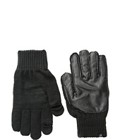 Plush - Fleece-Lined Perforated Fx Leather Smartphone Gloves