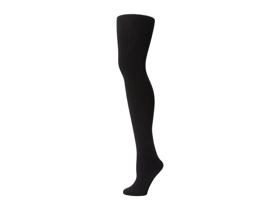 Plush Fleece Lined Full Foot Tights Black 2 Fishnet Hose