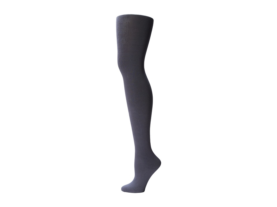 Plush Fleece Lined Full Foot Tights Grey Fishnet Hose