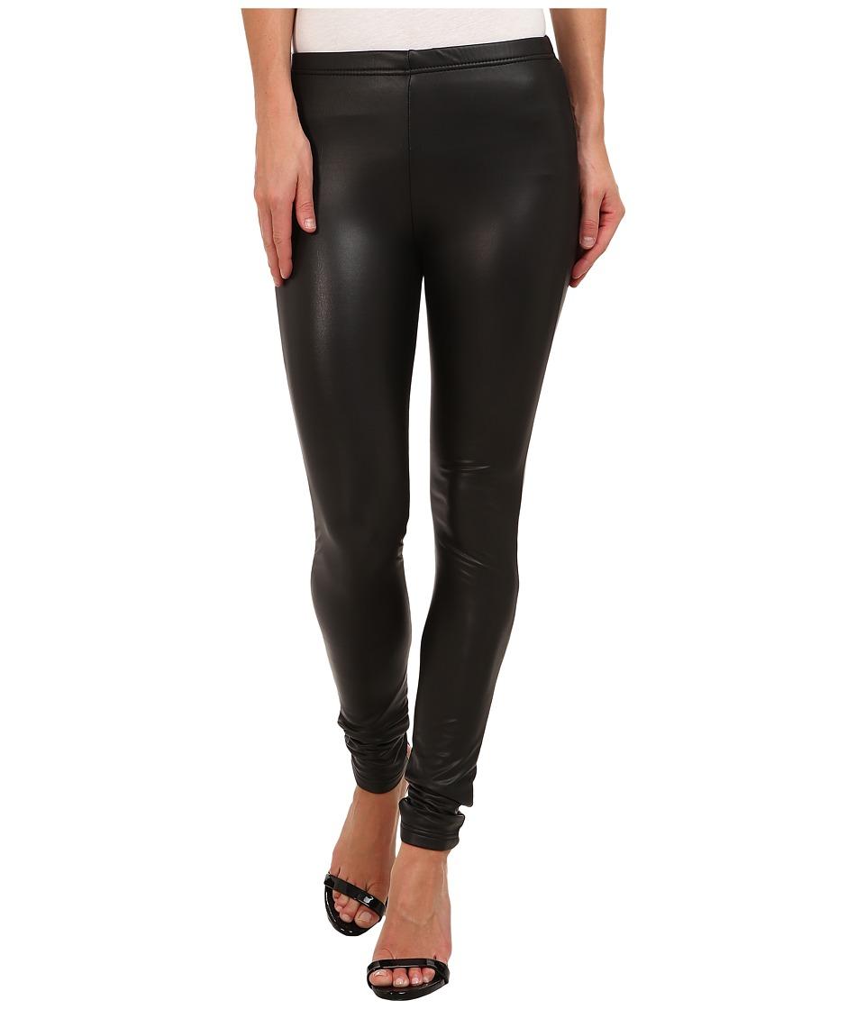Plush - Fleece-Lined Liquid Legging (Black) Womens Clothing