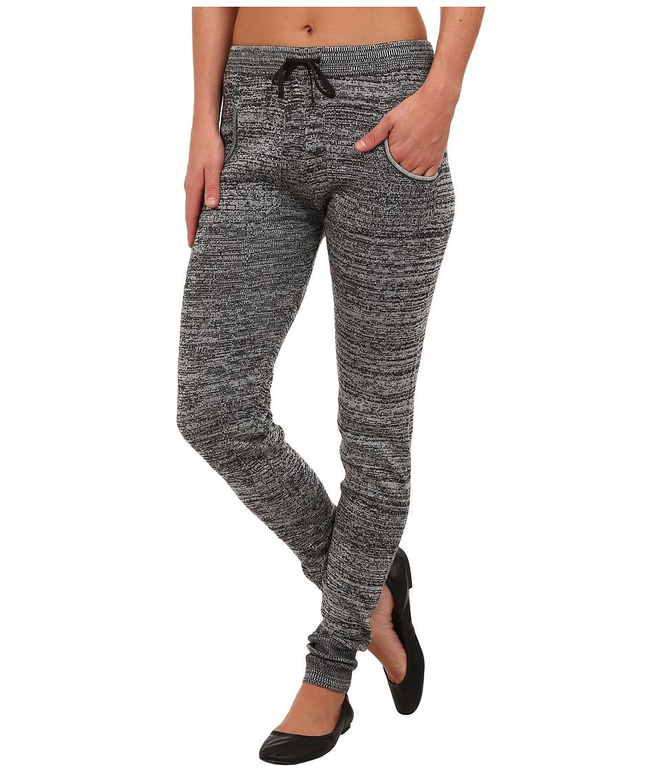 Plush Marled Sweater Legging Black/White Womens Clothing