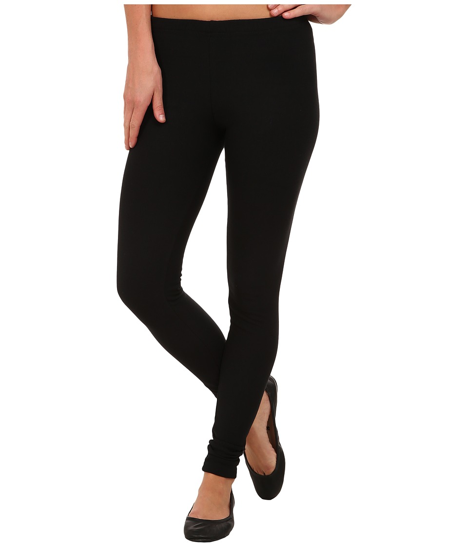 Plush - Fleece-Lined Cotton Legging (Black) Women's Casua...