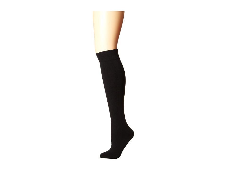 Plush - Fleece-Lined Thigh High (Black) Womens Thigh High Socks Shoes