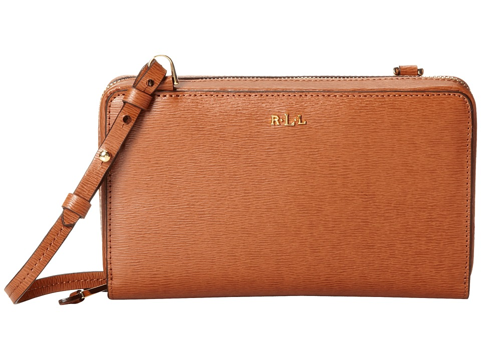 LAUREN Ralph Lauren - Tate Multi Functional Crossbody (Lauren Tan/Cocoa) Cross Body Handbags