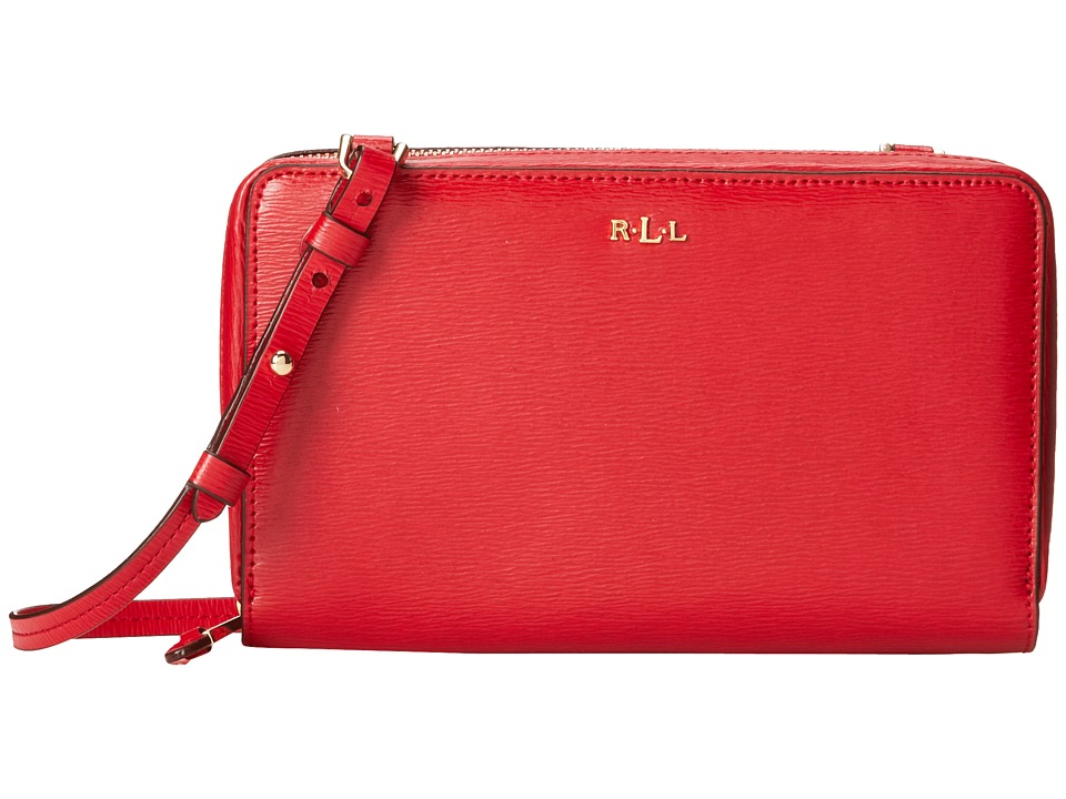 LAUREN Ralph Lauren - Tate Multi Functional Crossbody (Red/Cocoa) Cross Body Handbags