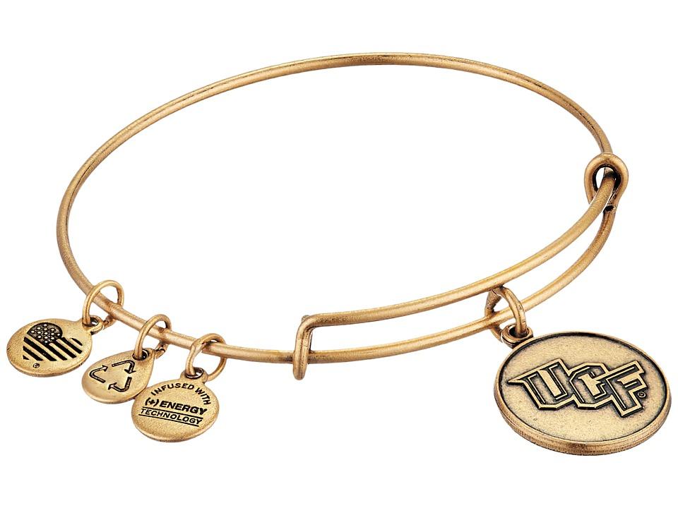 Alex and Ani - University of Central Florida(r) Logo Charm Bangle (Rafaelian Gold Finish) Bracelet