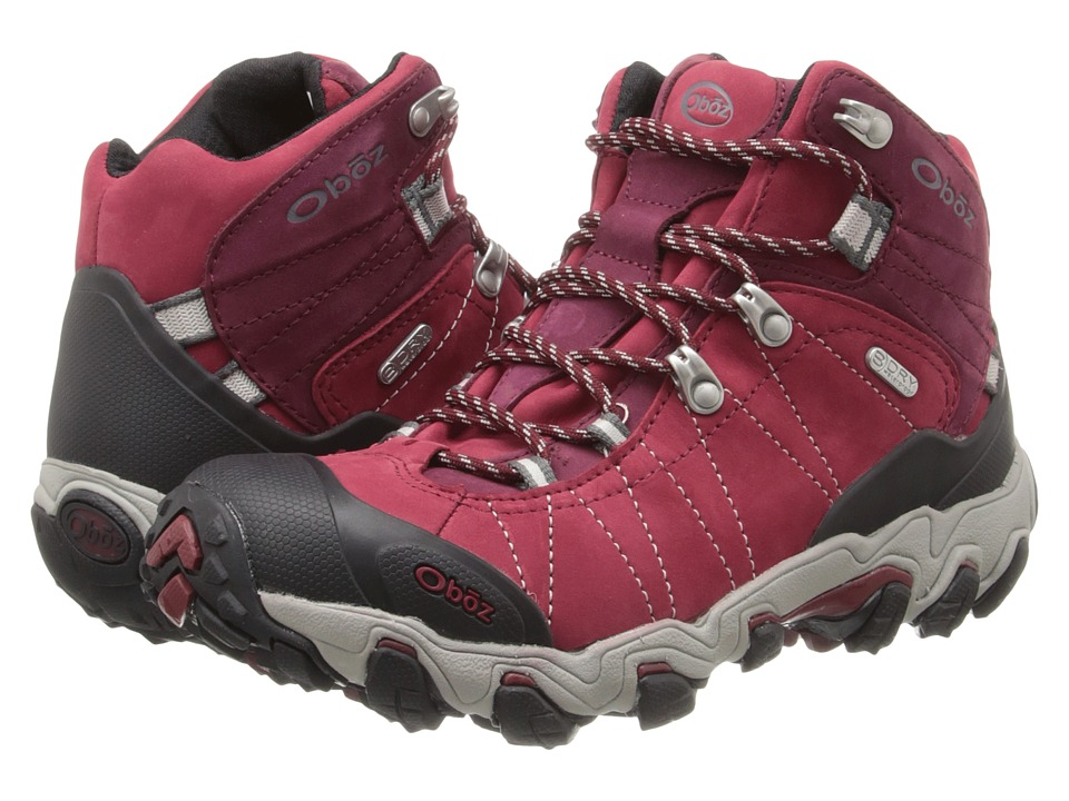 Oboz Bridger BDRY Rio Red Womens Hiking Boots