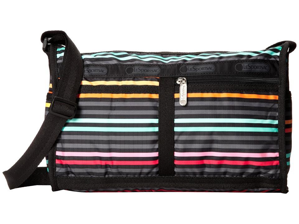 LeSportsac - Deluxe Shoulder Satchel (Lestripe Black) Cross Body Handbags