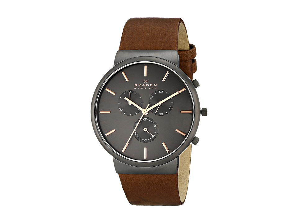 Skagen Ancher Leather Chronograph Brown 1 Analog Watches