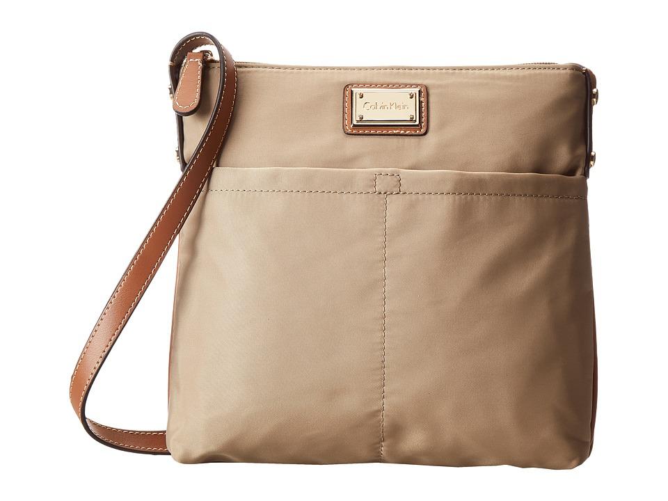 Calvin Klein - Nylon Crossbody (Light Khaki) Cross Body Handbags