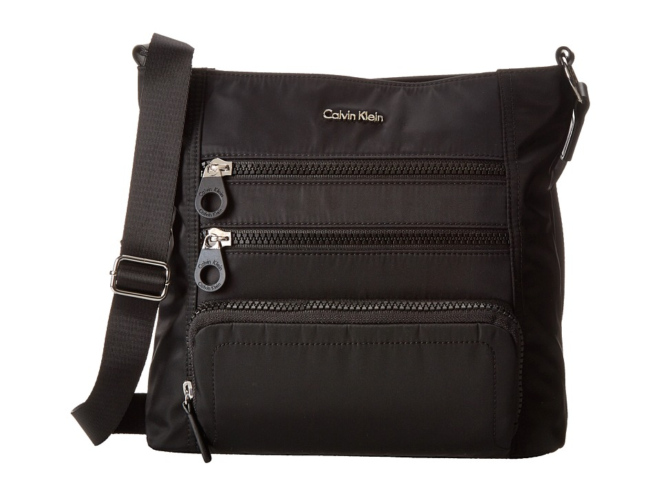 Calvin Klein - Nylon Crossbody (Black) Cross Body Handbags