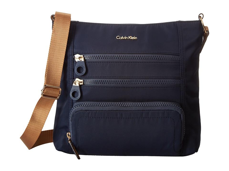Calvin Klein - Nylon Crossbody (Navy) Cross Body Handbags