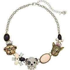 Betsey Johnson Pet Shop Vintage Dog Frontal Necklace