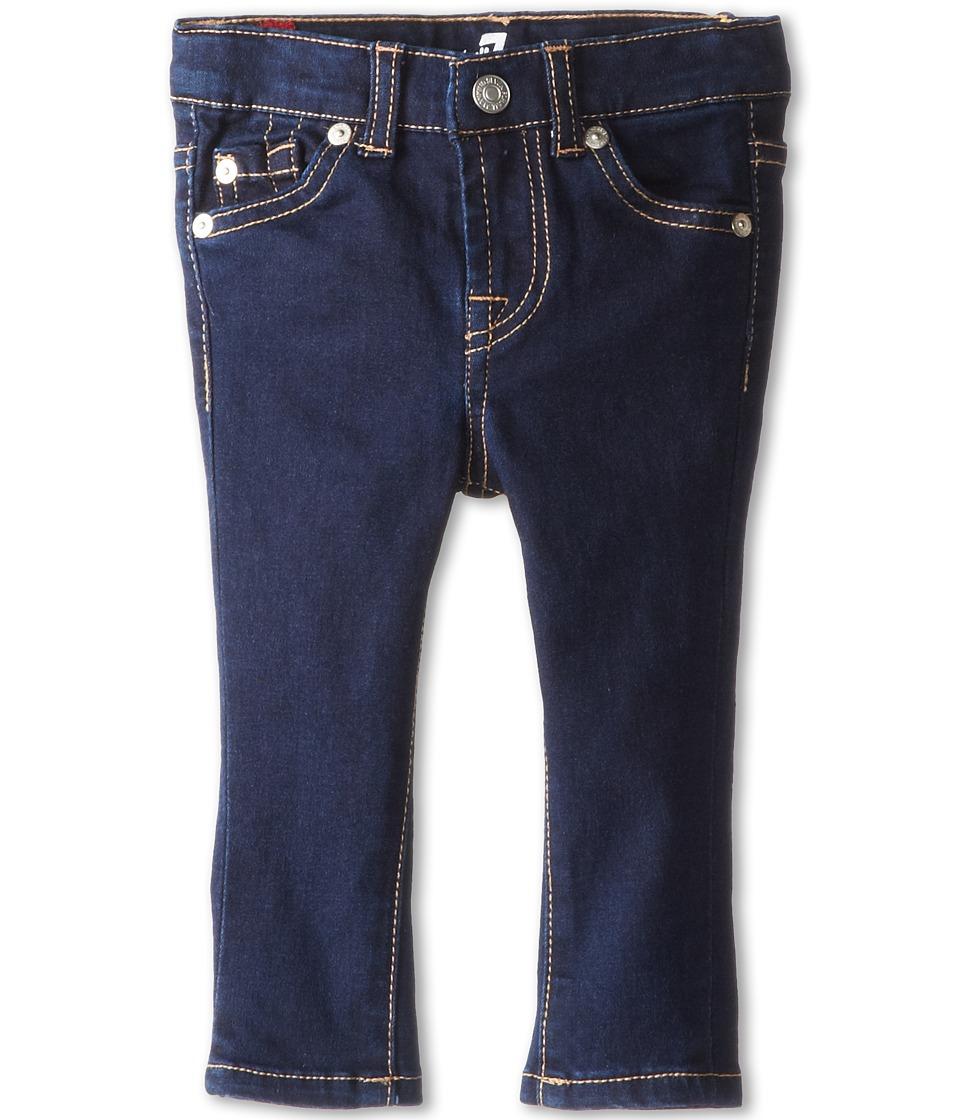 7 For All Mankind Kids - Skinny Jean in Rinsed Indigo (Infant) (Rinsed Indigo) Girls Jeans