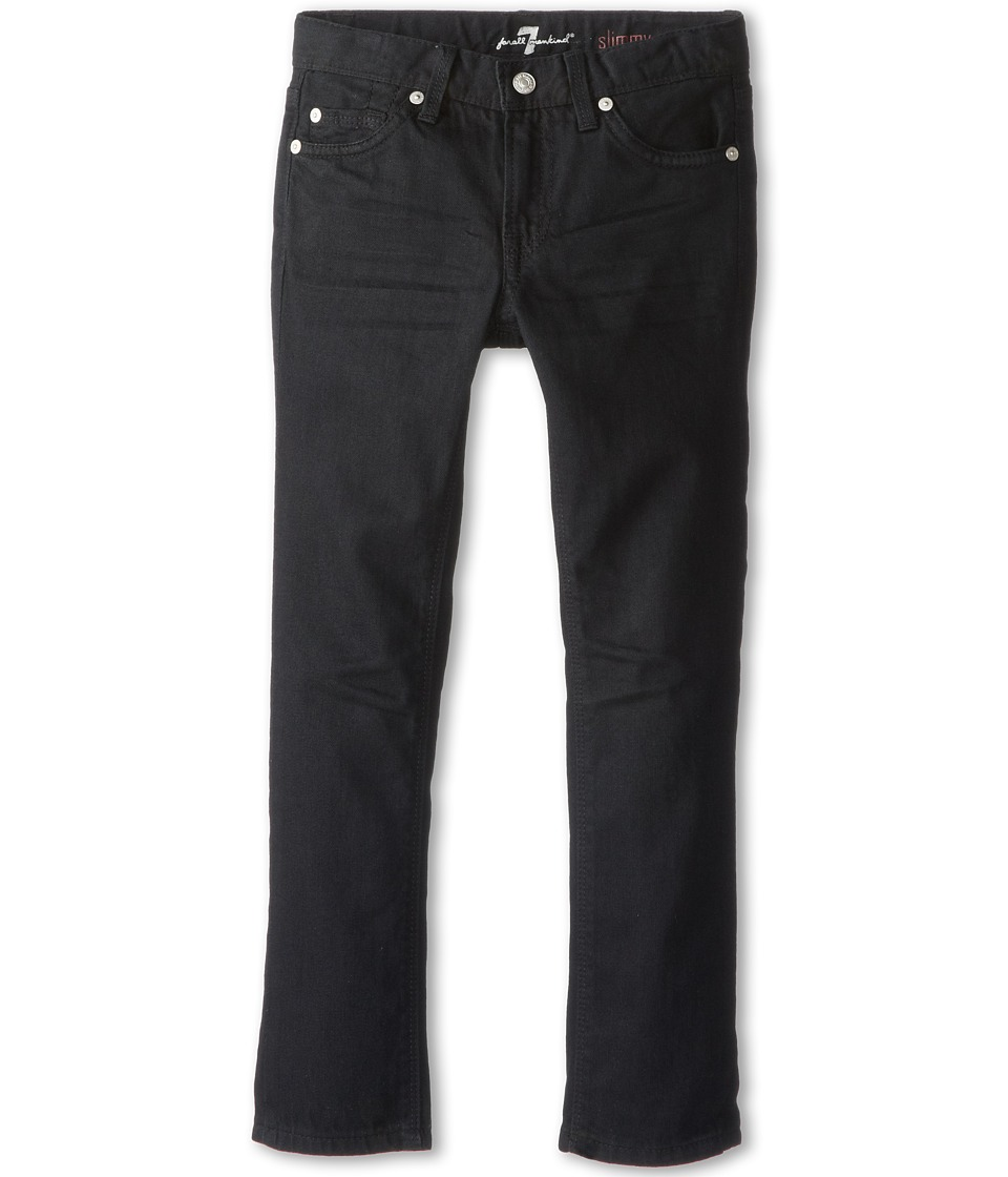 7 For All Mankind Kids Slimmy Jean in Black Out (Little Kids/Big Kids) (Black Out) Boy