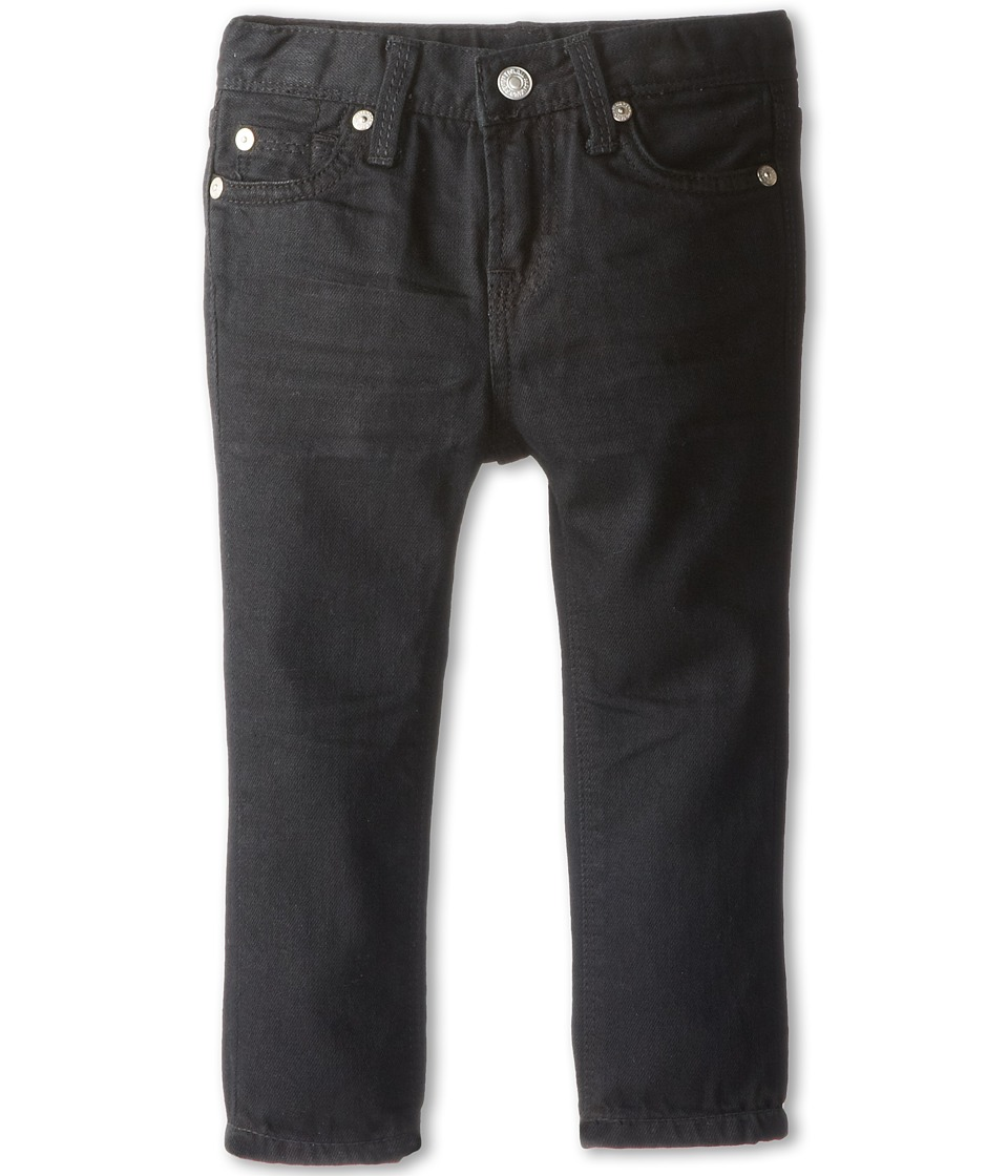 7 For All Mankind Kids Slimmy Jean in Black Out (Infant) (Black Out) Boy