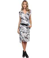 HELMUT LANG - Terrene Print Silk Contrast Dress