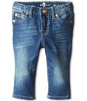 7 For All Mankind Kids - Slim Crop Ankle Skinny Jean in Blue Shadows (Infant)