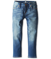 7 For All Mankind Kids - Slim Crop Ankle Skinny Jean in Blue Shadows (Little Kids)